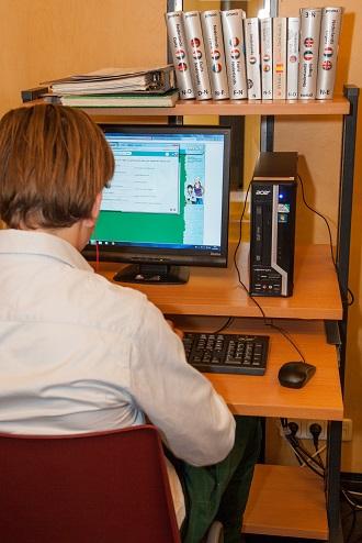Galerij - achter de computer (2)
